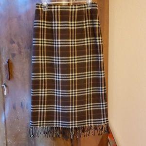 A plaid skirt petite